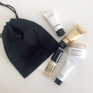 Luxury Skincare Deluxe Samples + Chanel Pouch